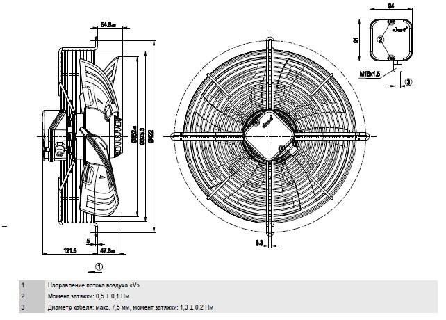 S4E350-AN02-48 Ebmpapst чертёж