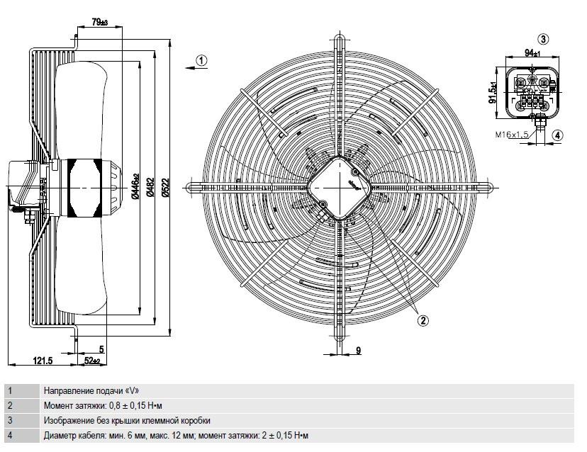 S6E450-AP02-06 Ebmpapst чертёж