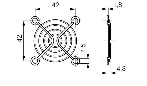 LZ31 защитная решетка ebmpast