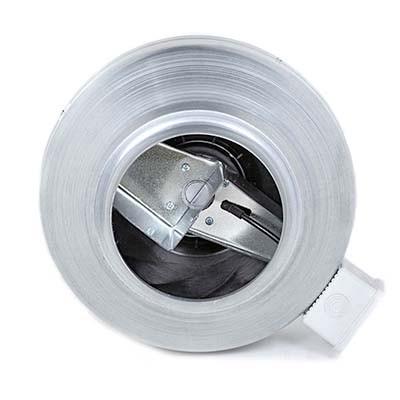 Вентилятор канальный круглый ВК 125 вид сзади