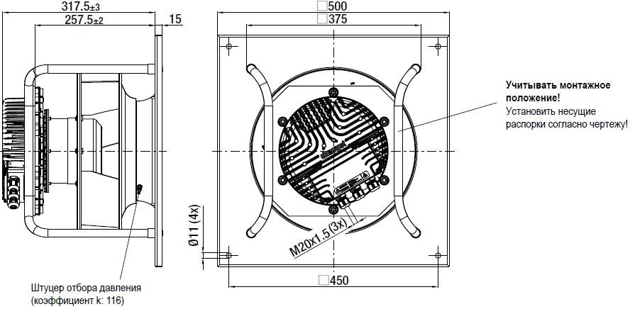 K3G310-BB49-02 габаритные размеры