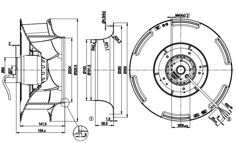 R4E310-RA06-01 ebmpapst чертеж