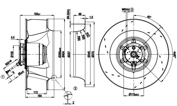 R4E400-AP17-06 ebmpapst чертеж