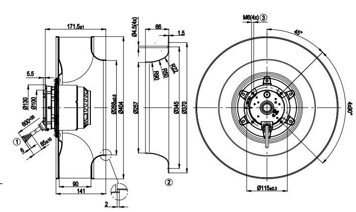 R4E400-AR05-06 ebmpapst чертеж