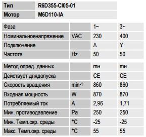R6D355-CI05-01 ebmpapst параметры