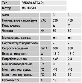 R6D630-AT03-01 ebmpapst параметры